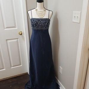 Michaelangelo Sz 6 Stunning blue evening dress